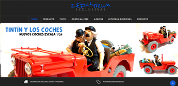 website para Zephyrum Exclusivas